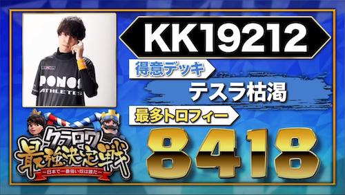 【クラロワニュース】クラロワ最強決定戦 〜日本で一番強い奴は誰だ〜 の参加者(KK19212)