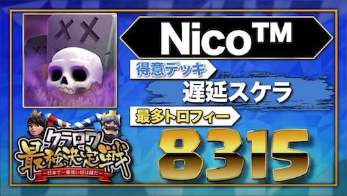 【クラロワニュース】クラロワ最強決定戦 〜日本で一番強い奴は誰だ〜 の参加者(Nico™)